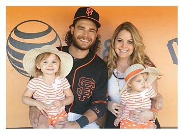 Brandon Crawford and family