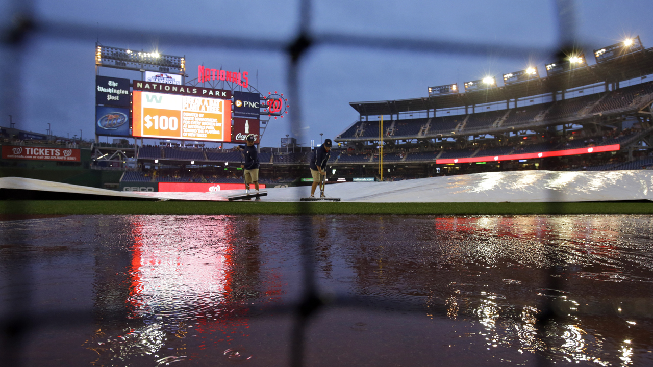 Heavy rains postpone Saturday's game vs. Nationals