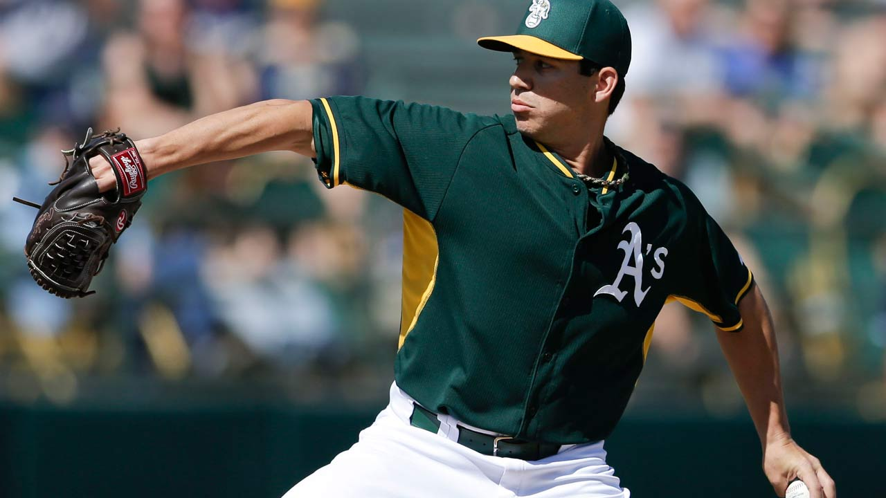 Rotation hopeful Milone tagged for three runs