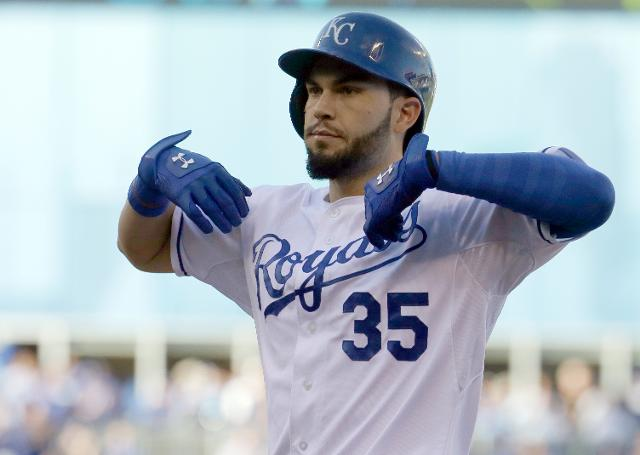 Eric Hosmer Makes Their Batting Gloves Look Good Because He Often Wears Them Solid Blue