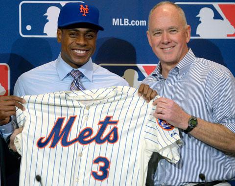 Granderson contento de seguir en N.Y. con Mets