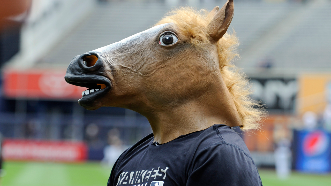 Kelley's horse head Yanks' good-luck charm