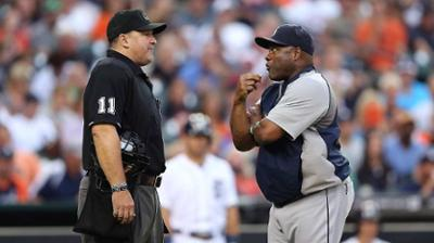 McClendon tossed for arguing balls and strikes
