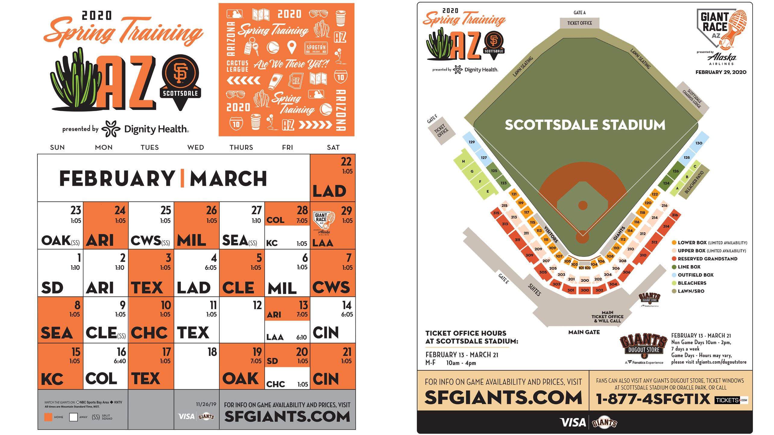 Sf Giants Schedule 2020 Printable.Spring Training Printable Schedule San Francisco Giants