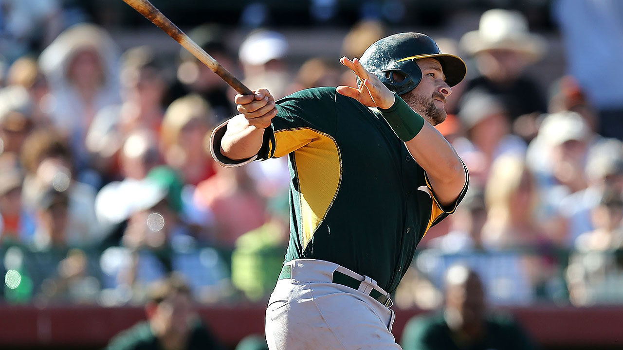 Vogt swinging hot bat, belts two home runs
