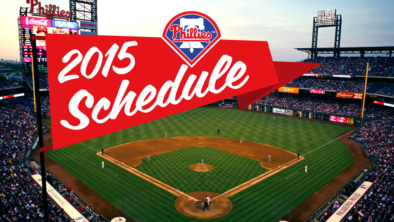Phillies to open '15 at home vs. Red Sox