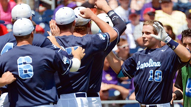 UNC eliminates LSU; UCLA keeps rolling in Omaha