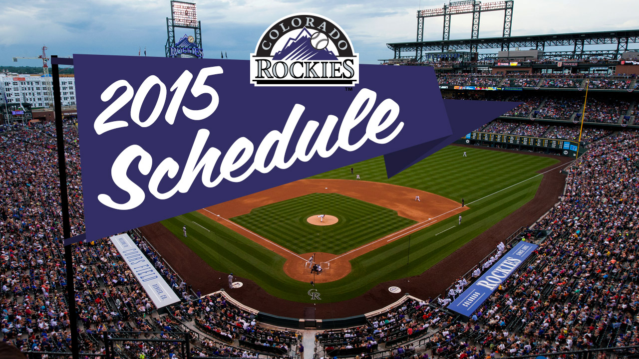 Rox to open 2015 on road, face Cubs in home opener