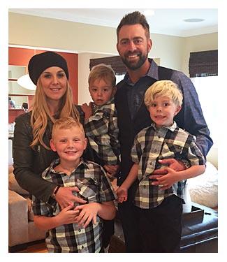 Jeremy Affeldt and family