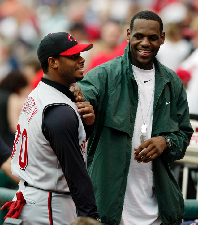 LeBron James once took batting practice before a Reds-Indians game