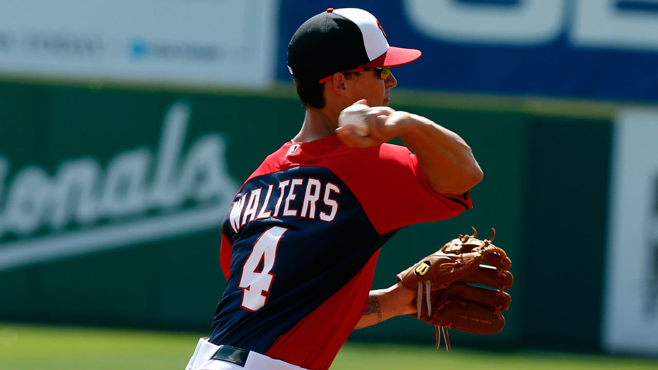 Walters begins seeing work at second base