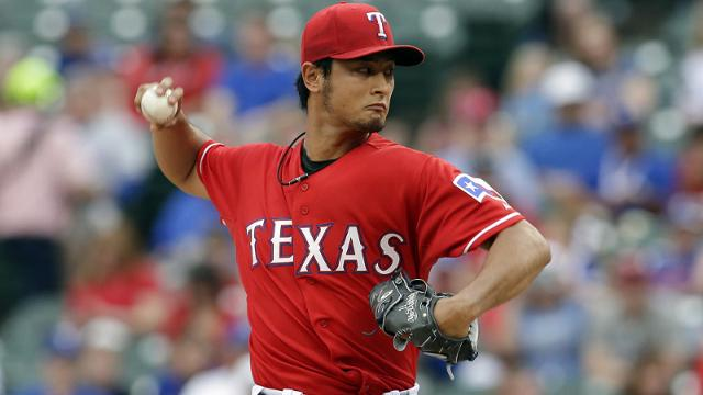 Darvish perfect through six against Boston