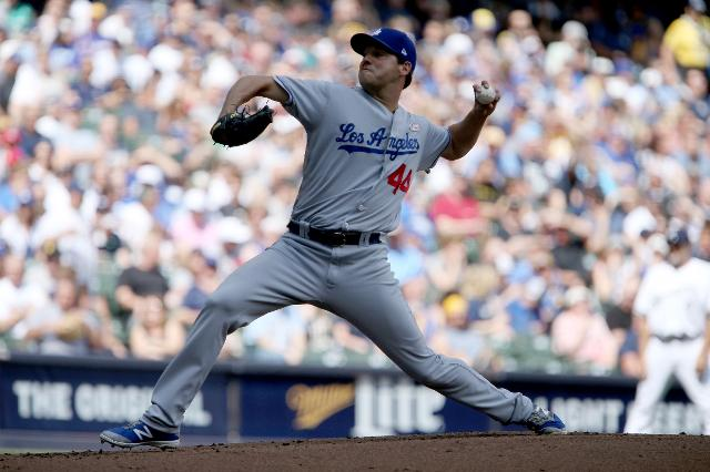 Taylor's 9th-inning slam leads Dodgers over Brewers 10-8