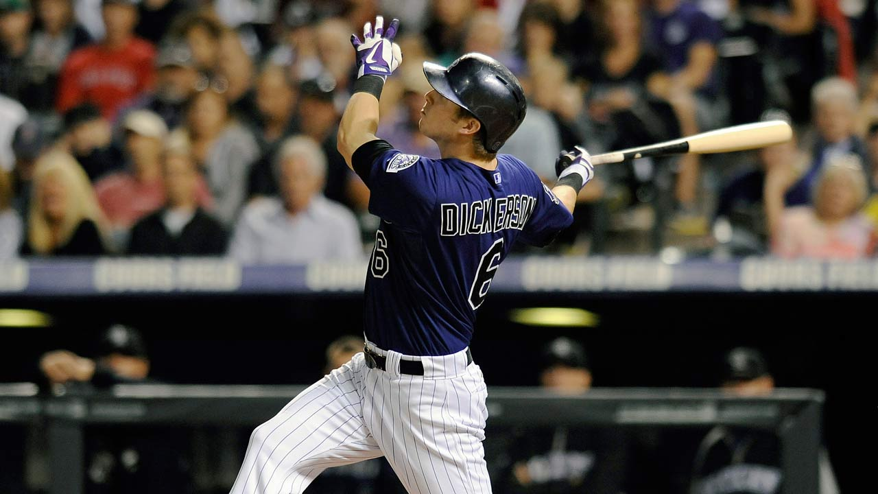 Parker drives in five runs as Rockies pound Royals