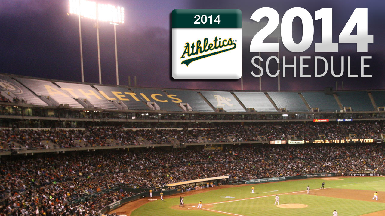 A's slated to debut 2014 squad at home vs. Indians