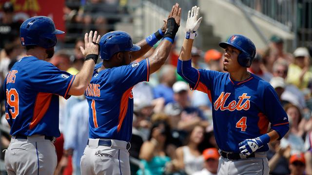 Davis, d'Arnaud Homer as Mets Rout Marlins 10-2