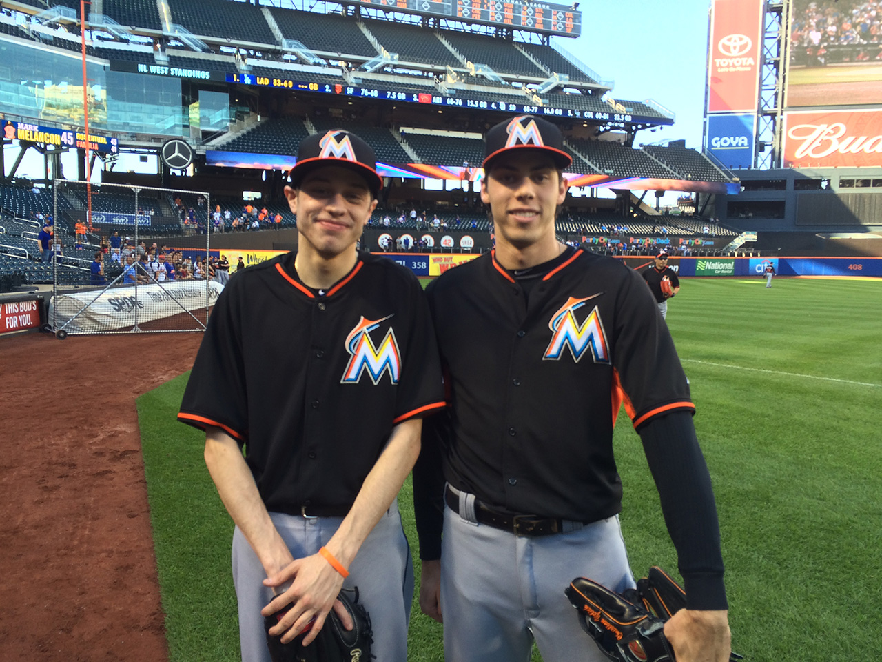 Christian Yelich came face-to-face with his doppelganger ...