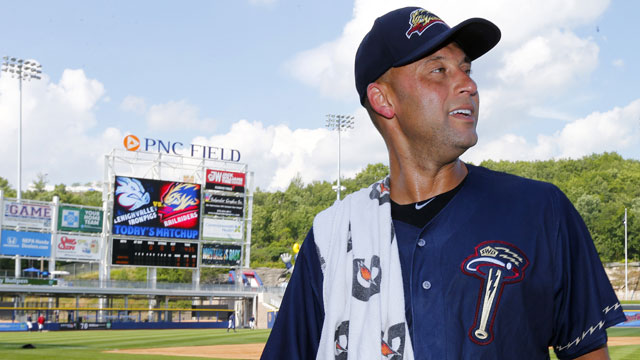 Jeter reaches base three times in rehab game