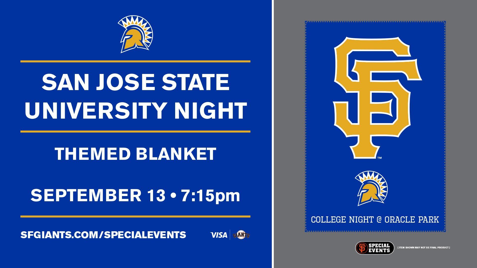 Special Event San Jose State University Night San Francisco Giants