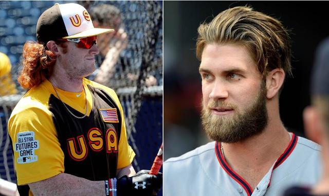 Clint Frazier Wants Facial Hair Like Bryce Harper But