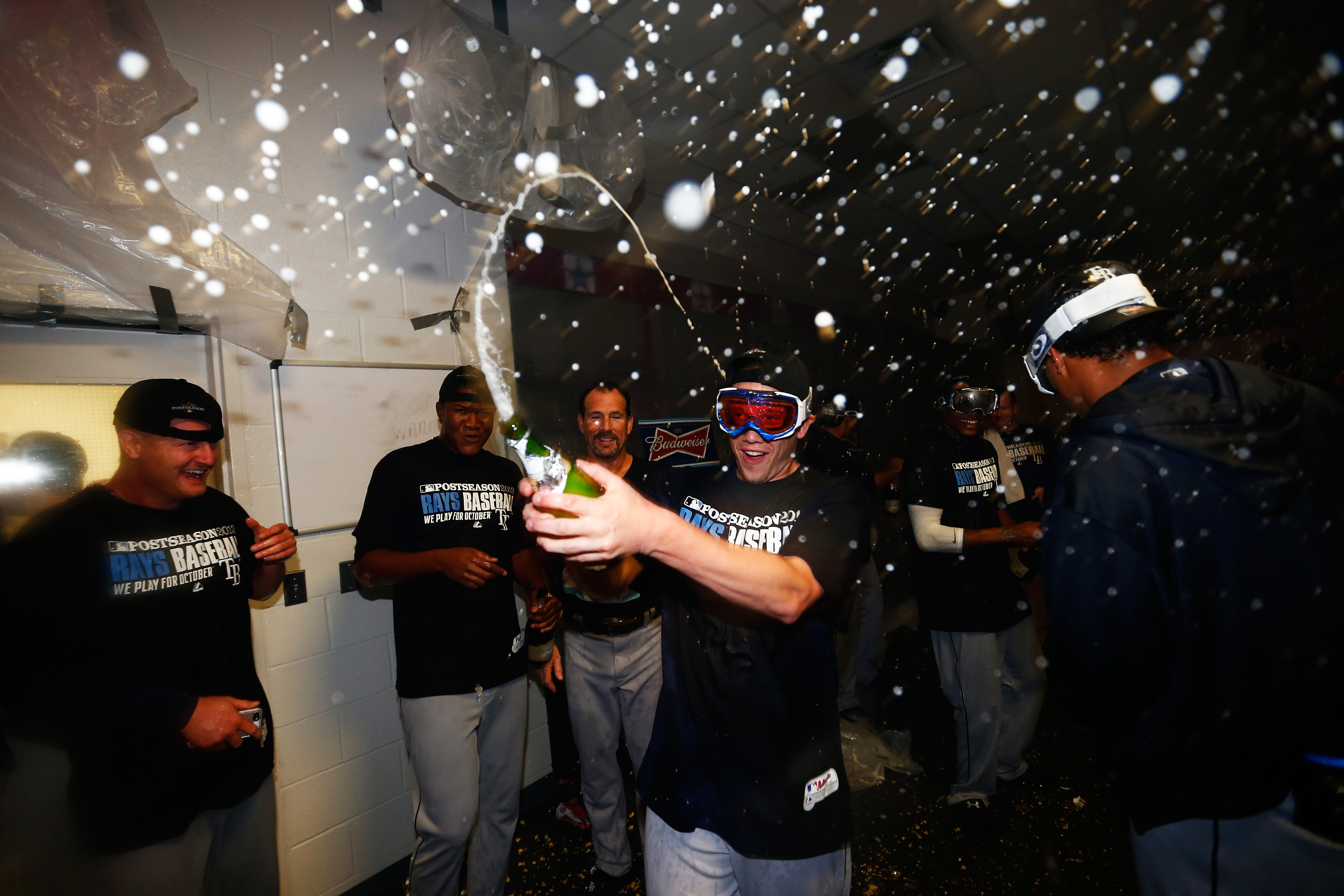 Rays, champagne