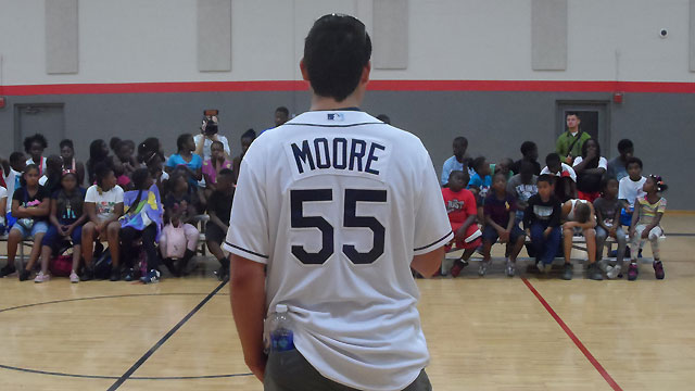 Rays' Moore, Price provide community outreach