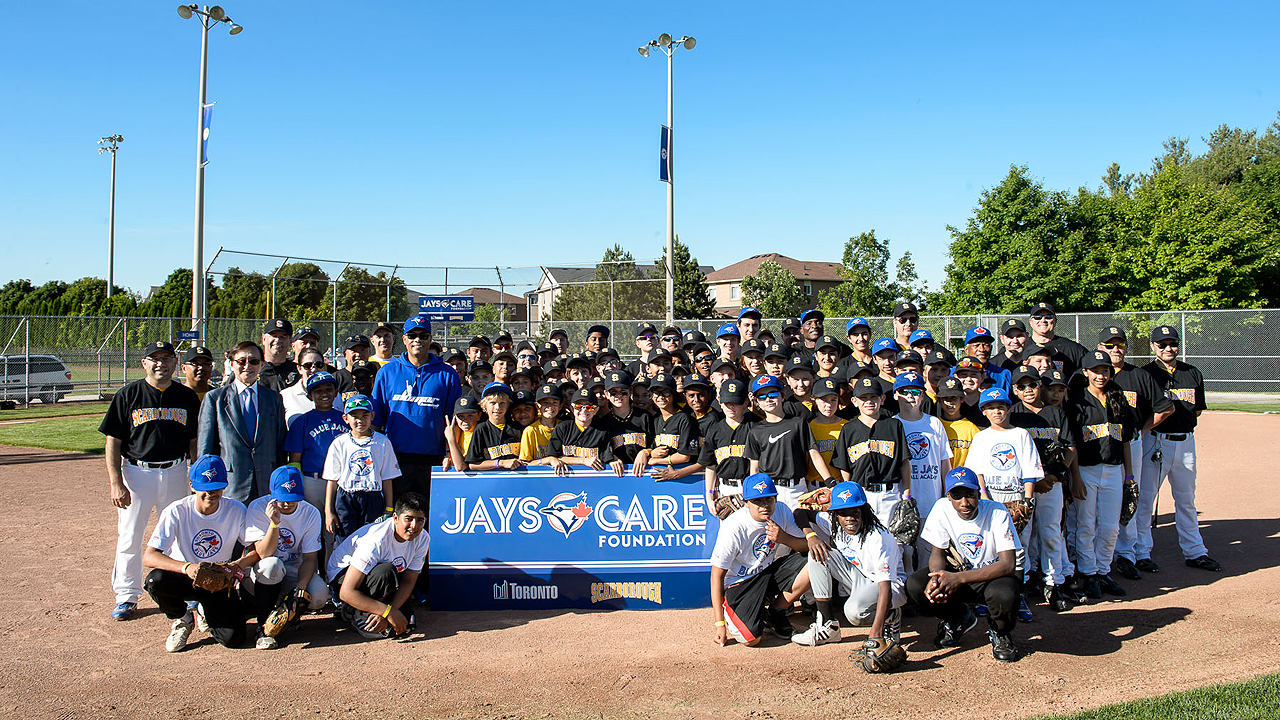 Jays Care, Scarborough Stingers unveil baseball field