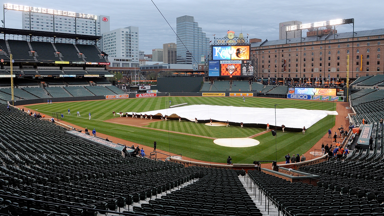 Rain shakes up start of Royals-O's series