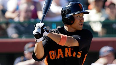 Giants bring up Tanaka in place of Gillespie