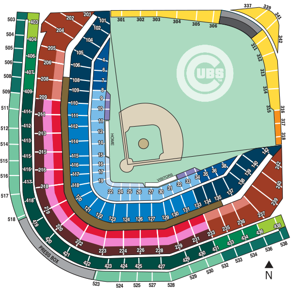 Wrigley Field Seating Map | cubs.com
