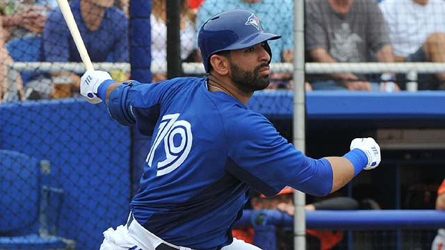 Bautista belts first spring homer; Buehrle toils