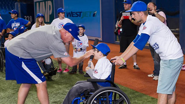 Blue Jays host clinics for girls after long day