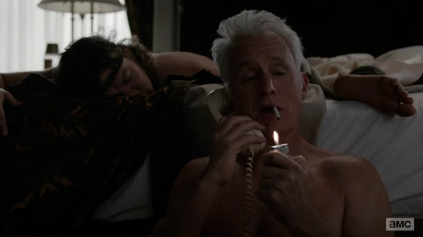 Roger Sterling no shirt