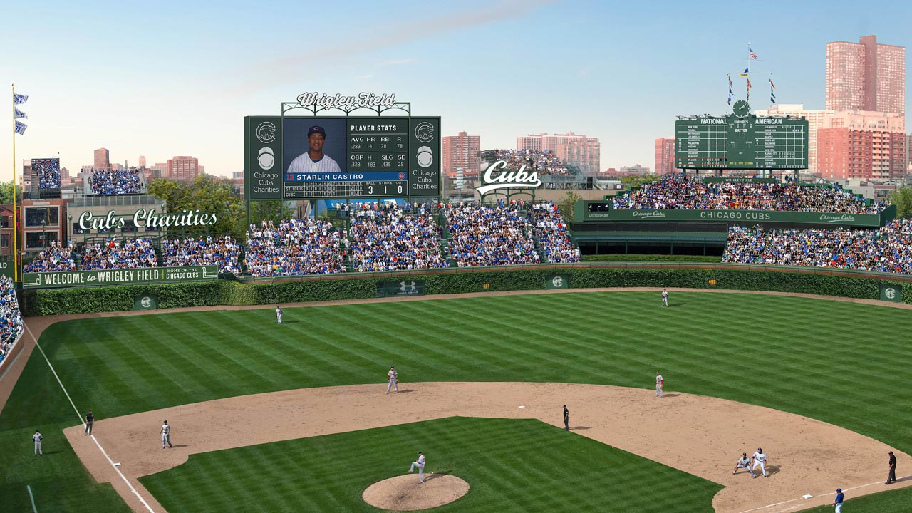 Cubs unveil revised Wrigley restoration plan