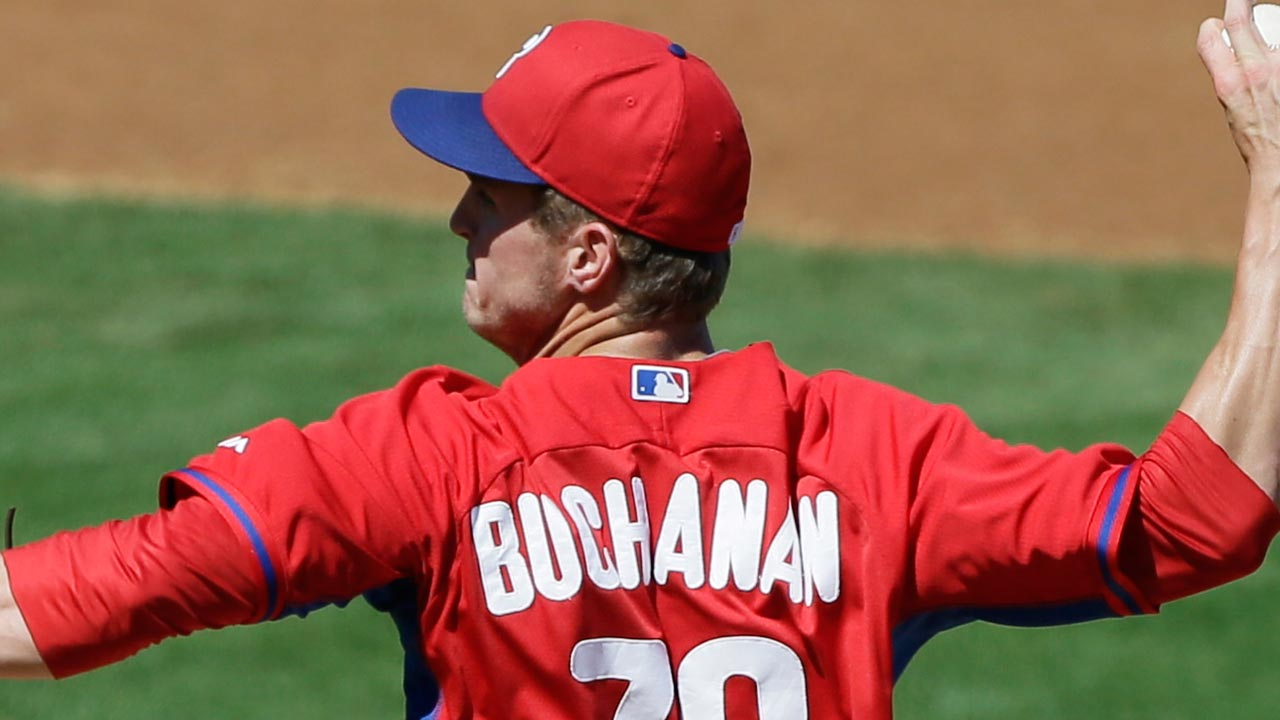 Buchanan logs solid outing in Phils' loss to Braves