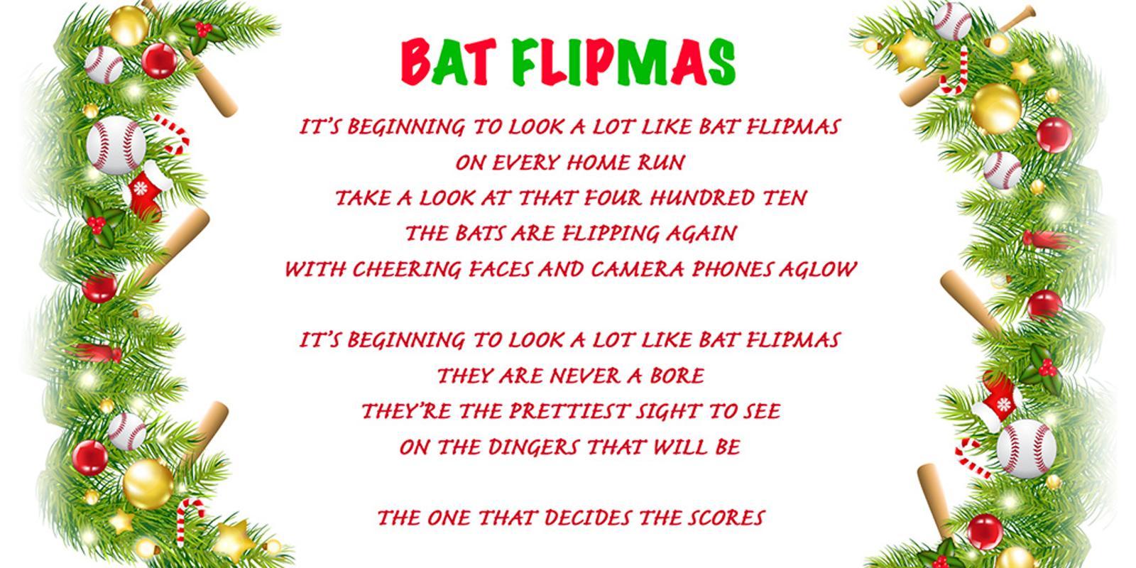 batflipmasjpg - Baseball Christmas