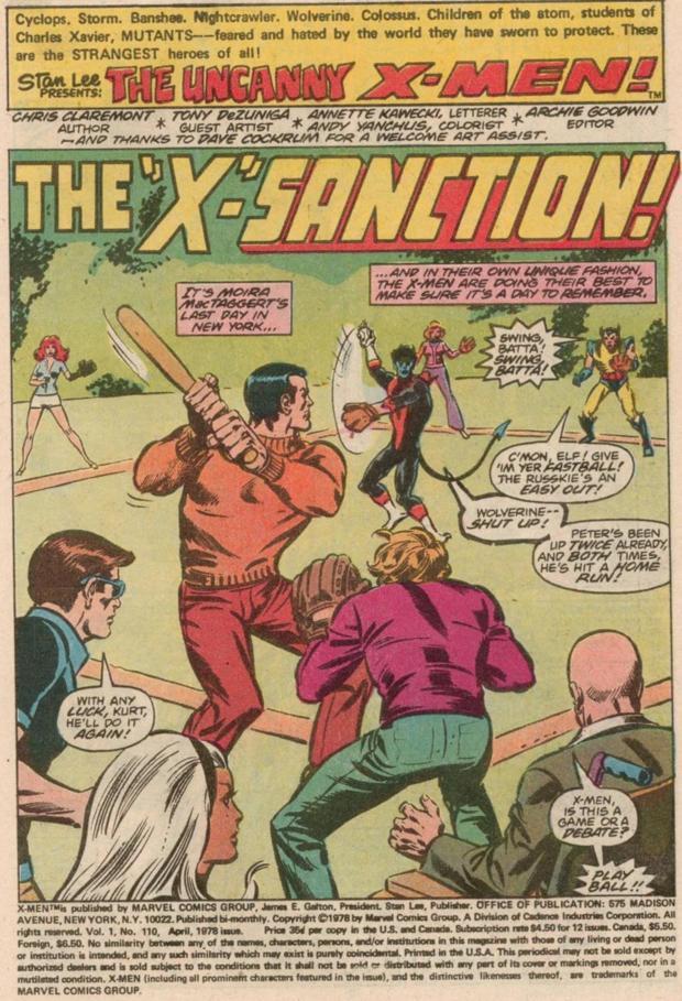 X-Men baseball