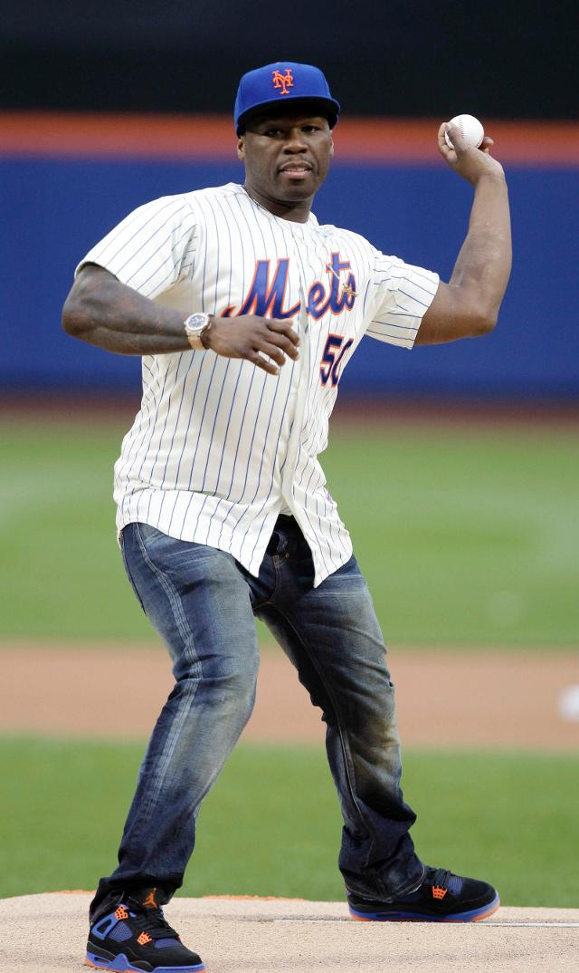 50 Cent wants to redeem himself for that first pitch in 2014, so the Mets invited him back