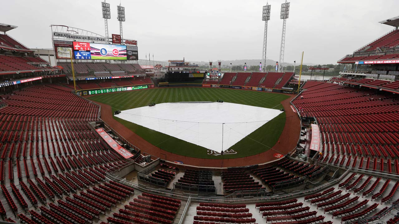 Rain forces Thursday doubleheader for Padres, Reds