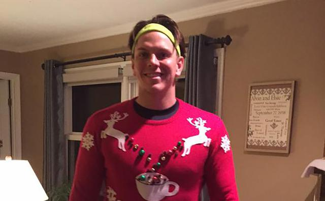 Logan Morrison takes the ugly Christmas sweater to a whole new ...