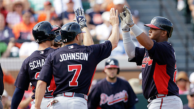 Francisco goes yard as Braves edge Tigers