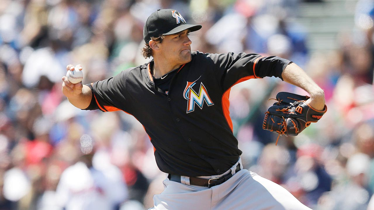 Game gets away from Eovaldi, Marlins' bullpen