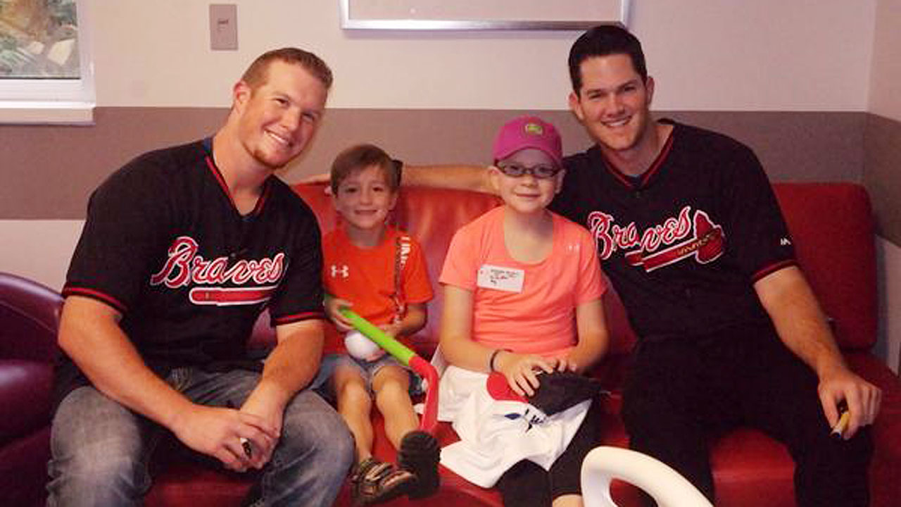 Kimbrel, Braves visit children's hospital