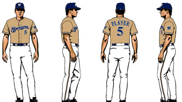 Brewers introduce new gold alternate jerseys