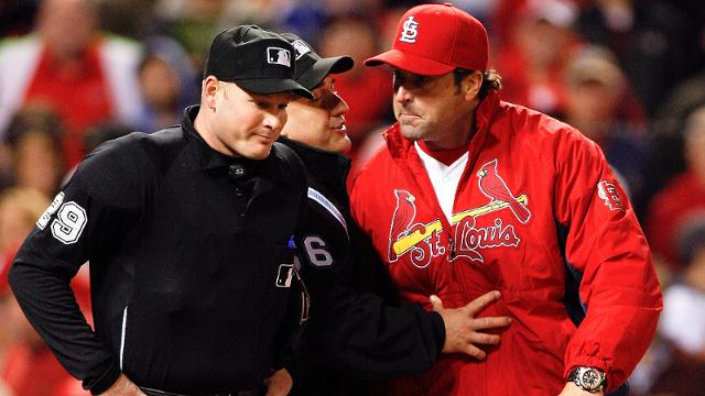 Bourjos, Matheny tossed after arguing strike zone