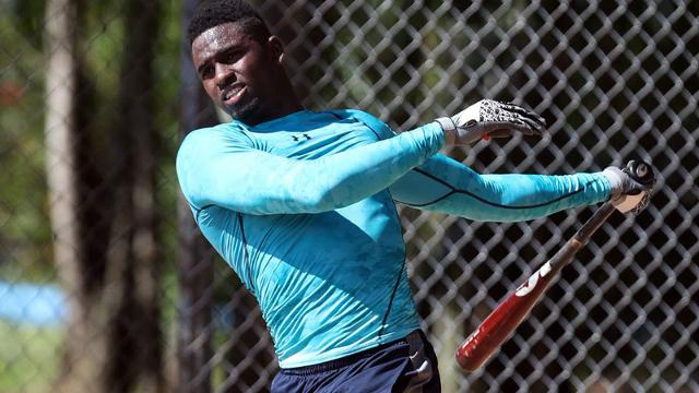 Luis Robert defected from Cuba in November to pursue his MLB dream. (Bill Mitchell)