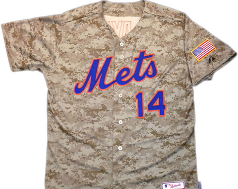 Los Mets vestirán jerseys de camuflaje en el 2014
