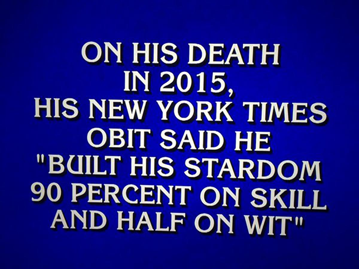yogi berra was honored with a final jeopardy clue mlb com