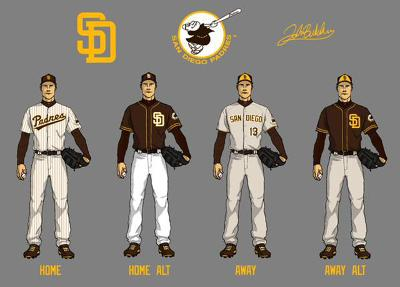 The Padres Unveiled Their New Uniforms Including The
