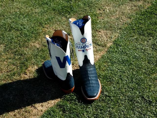 The Cubs ordered some custom cowboy boots to commemorate their ...